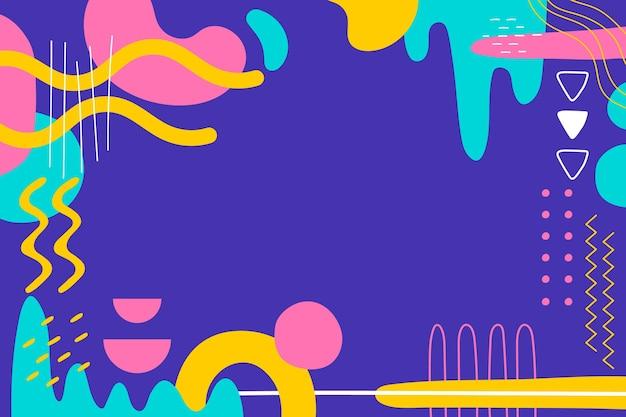 Sfondo di forme dinamiche disegnate a mano