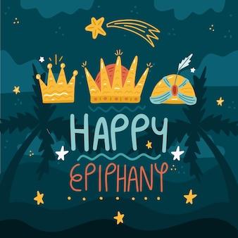 Giorno dell'epifania disegnato a mano
