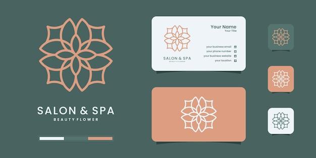 Modello di progettazione del logo della natura femminile e moderno disegnato a mano. logo essere uso salone e spa.