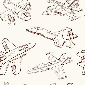 Modello di jet da combattimento disegnato a mano