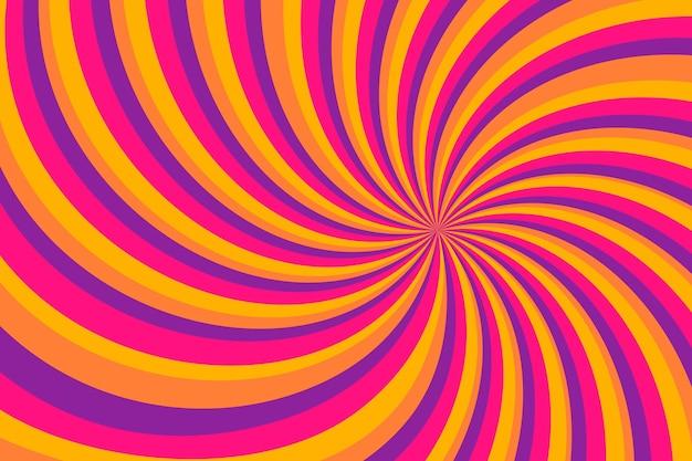 Sfondo psichedelico piatto groovy disegnato a mano