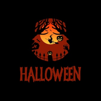 Sfondo di halloween piatto disegnato a mano