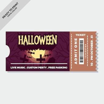 Biglietti di halloween piatti disegnati a mano