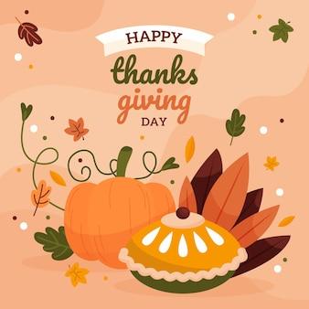 Illustrazione di ringraziamento piatta disegnata a mano