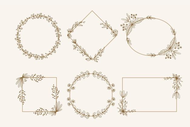 Cornici floreali disegnate a mano