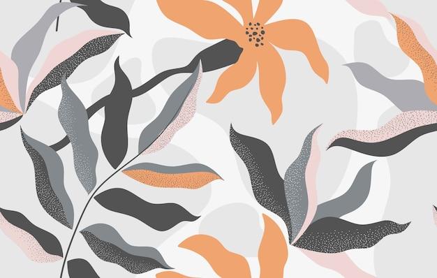 Modello senza cuciture floreale disegnato a mano