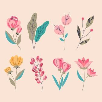 Confezione di fiori disegnati a mano