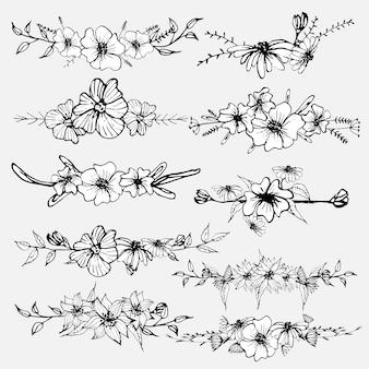 Fiori disegnati a mano
