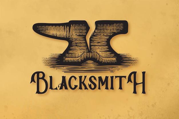 Logo forgia disegnato a mano designs ispirazione