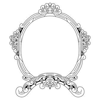 Disegnato a mano del telaio in stile zentangle