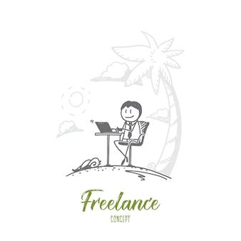 Illustrazione disegnata a mano freelance