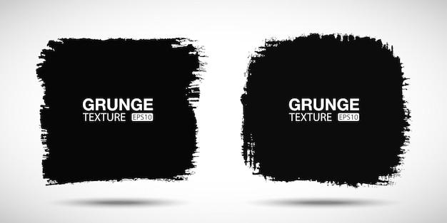 Set di sfondo grunge disegnato a mano tratto di pennello banner di vendita texture di emergenza forme vuote vector