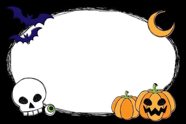 Sfondo di halloween disegnato a mano