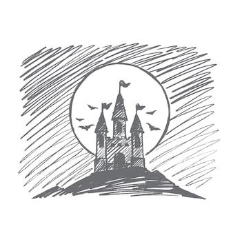 Schizzo di concetto di halloween disegnato a mano
