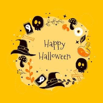 Cornice di halloween disegnata a mano