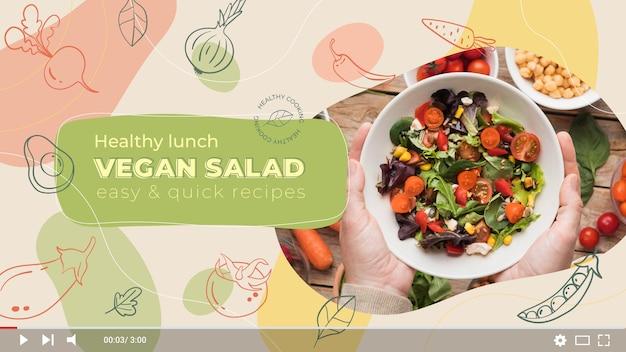 Ricette di salute disegnate a mano cibo canale youtube arte