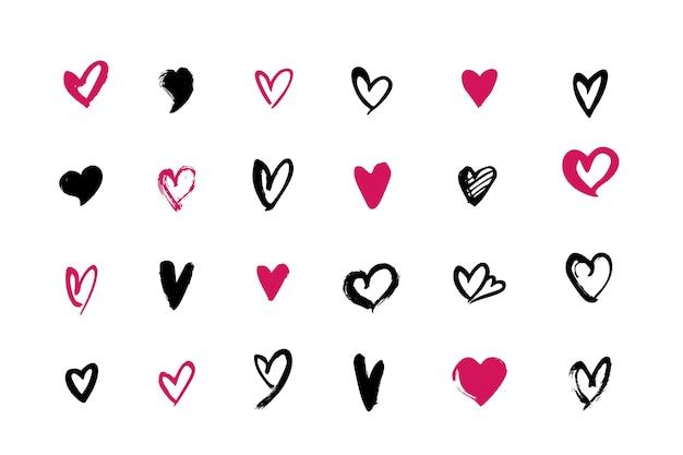 Accumulazione del cuore disegnato a mano