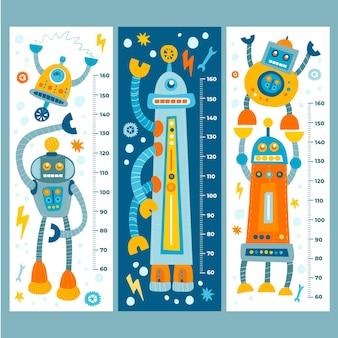 Accumulazione del misuratore di altezza disegnata a mano