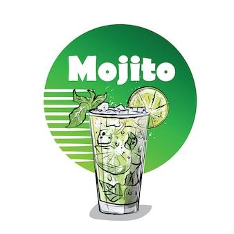 Illustrazione disegnata a mano di cocktail.