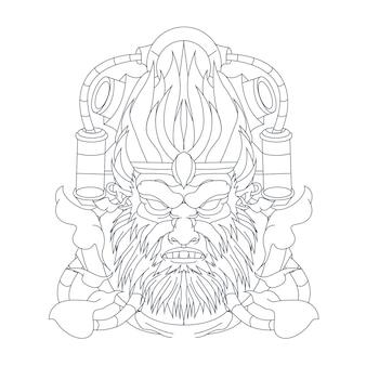 Illustrazione disegnata a mano della scimmia
