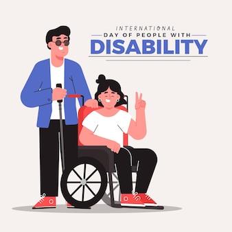 Giornata internazionale delle persone con disabilità disegnata a mano