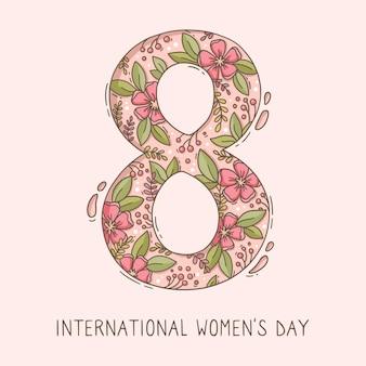Celebrazione della giornata internazionale della donna disegnata a mano