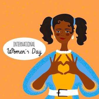 Giornata internazionale della donna disegnata a mano