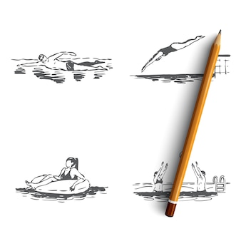 Illustrazione isolata disegnata a mano