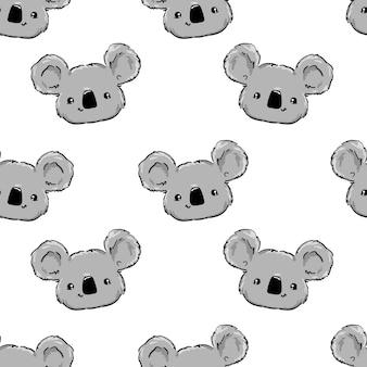 Disegnato a mano modello koala