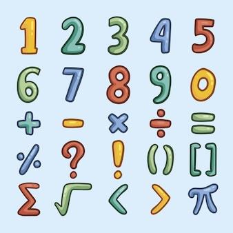 Simboli matematici disegnati a mano