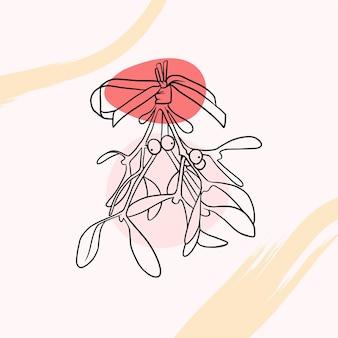 Vischio disegnato a mano in stile arte linea a