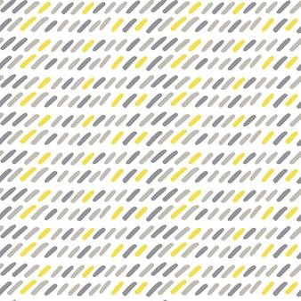Reticolo senza giunte di doodle moderno disegnato a mano. sfondo grunge grigio, giallo, bianco. l'illustrazione vettoriale può essere utilizzata per tessuti, carta da parati, carta da imballaggio, web