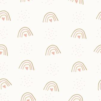 Reticolo senza giunte di doodle moderno disegnato a mano. sfondo grunge pastello. illustrazione vettoriale