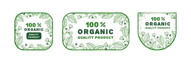 Logo organico disegnato a mano impostato con stile diverso