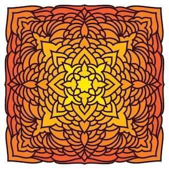 Sfondo carta pizzo etnico ornamentale orientale disegnato a mano per t-shirt design, biglietto vintage, invito a una festa, poster di yoga, fazzoletto da collo, sciarpa, brochure, album regalo, album di ritagli, ecc.