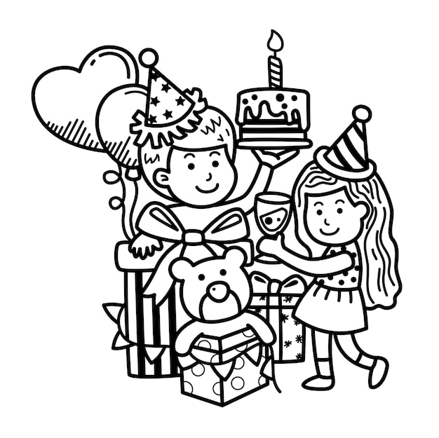 Buon natale festa disegnata a mano
