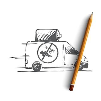 Controllo dei parassiti disegnato a mano