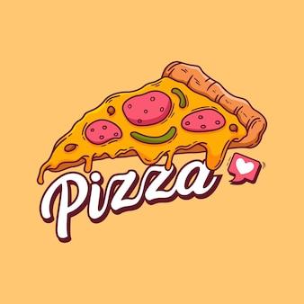 Disegnato a mano di pizza