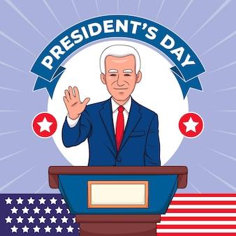 Concetto di giorno del presidente disegnato a mano