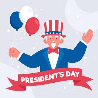 Giorno dei presidenti disegnati a mano