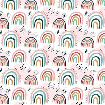 Disegno del modello arcobaleno disegnato a mano