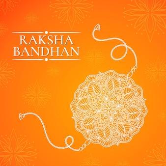 Concetto di raksha bandhan disegnato a mano