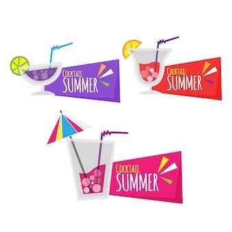 Disegnati a mano adesivi colorati rotondi di carta estiva