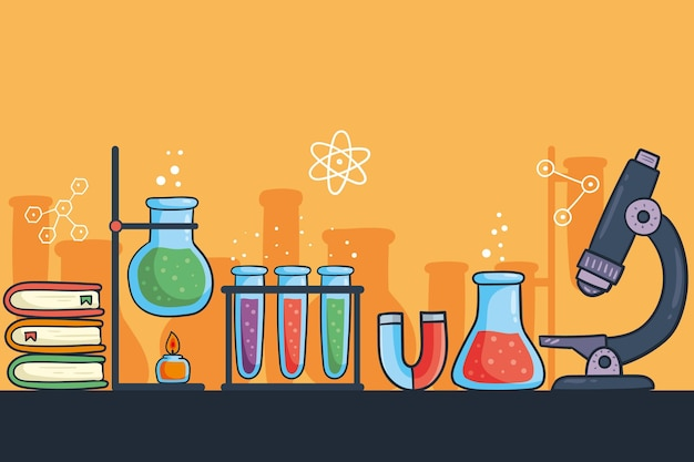 Priorità bassa di scienza disegnata a mano