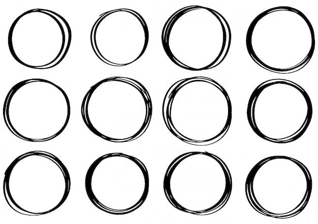 Cerchio di scarabocchi disegnati a mano