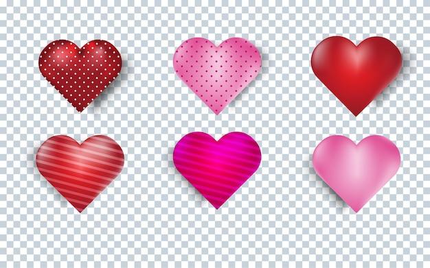 Cuori di scarabocchio disegnati a mano. elementi a forma di cuore dipinti per san valentino