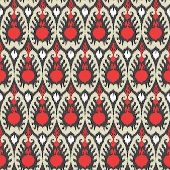 Ornamento di tradizione uzbekistan senza cuciture disegnato a mano