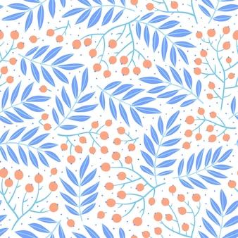 Modello senza cuciture disegnato a mano con foglie d'autunno. illustrazione stagionale colorata per carta e carta da regalo. progettazione di stampa su tessuto. priorità bassa alla moda creativa.
