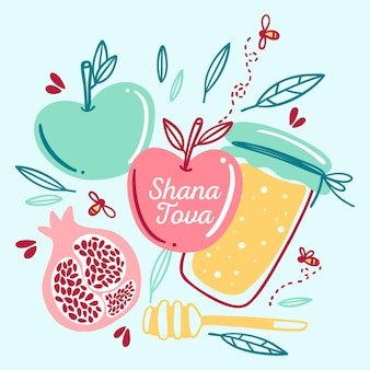 Shana tova disegnati a mano