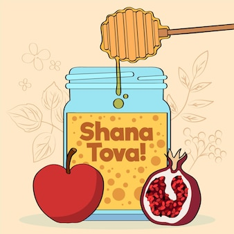 Shana tova disegnato a mano